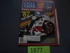 Cycle Guide Magazine March 1987- Kawasaki EX500, Yamaha FZR1000