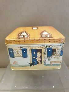 Mabel Lucie Attwell Bicky House Crawfords Advertising Biscuit Tin  Money Box New