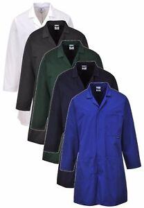 Portwest warehouse dust school science lab polycotton storeman work coat #2852