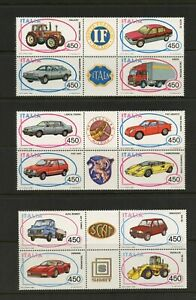 E738 Italie 1984/6 Voitures Autos Blocs MNH