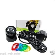 SUBMERSIBLE 1 LED POND spolight UNDERWATER FOUNTAIN Light with Auto Sensor