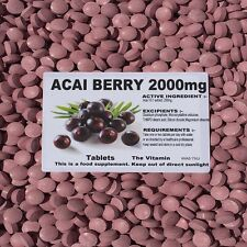 Acai Berry 2000mg 240 Tab's  Weight Loss:Kick of Energy