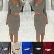 Unbranded Straight, Pencil Solid Regular Size Skirts for Women