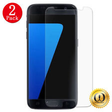 [2-PACK] For Samsung Galaxy S7 Ultra-Clear 9H Tempered Glass Screen Protector