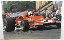 PHOTO cm 11x17 signed by Arturo Merzario FERRARI 312 B3 V12 #4 F1 1973 MONACO GP