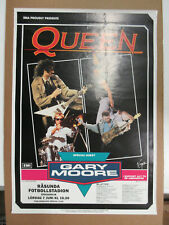 Queen The Works Tour Sweden 1984 Org Concert Poster Freddie Mercury Vg+