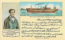 John Fitch - Inventor of the Steamboat Postcard