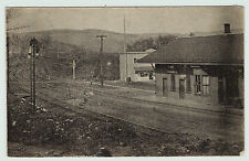 RARE 1910 Railroad Depot - Nineveh Junction NY - Train Station Postcard