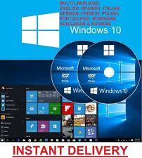 Windows 10 32/64 Bits, Maison et Pro-ISO téléchargement numérique, multi langue!
