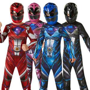 Power Rangers 2017 Movie Kids Fancy Dress Superhero Ranger Boys Girls Costume