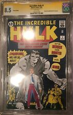 INCREDIBLE HULK #1 GERMAN REPRINT CGC SS HERB TRIMPE 8.5!