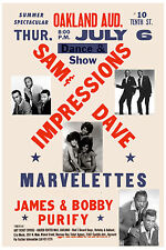 SOUL: Sam & Dave, Marvelettes, Impressionsw/James & Bobby Purify Poster 1967