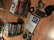 SONY PLAYSTATION 2 SLIM SILVER CONSOLE SYSTEM - 33 GAMES - 1 CONTROLLER