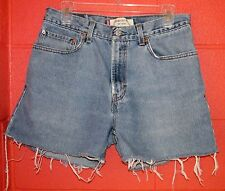Levi's 31W Festival Frayed Denim Jean Shorts Cut Off Relaxed Fit VTG Old School