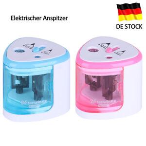 Spitzmaschine Elektrischer Spitzer Elektrisch Bleistift 2 Holes Anspitzer Rosa