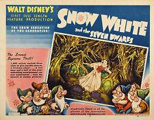 BIANCANEVE E I SETTE NANI SNOW WHITE AND THE SEVEN DWARFS POSTER WALT DISNEY