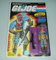*RECARDED 1986 GI Joe Cobra Zandar Figure Complete Sealed *CUSTOM File Card Back