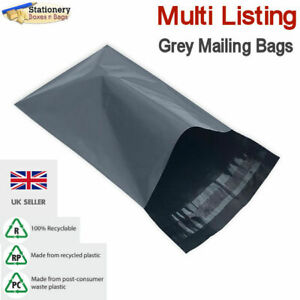 STRONG GREY MAILING BAGS - Postage Mailers Plastic Post Polythene  *RECYCLABLE*