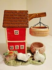 Home Interiors Homco Tart Wax Warmer Candle Holder Barn Rooster/Chicken Sheep