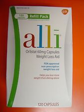 Alli Weight Loss Refill Pack 120 Capsules,Original Package EXP 01/2022 NEW