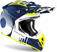 CASCO CROSS AIROH AVIATOR ACE NEMESI BLUE GLOSS TAGLIA L