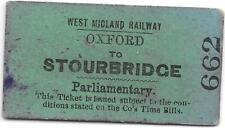 More details for west midland railway ticket : oxford - stourbridge