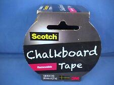 3M Scotch Chalkboard Tape - 1.88 Inch x 5 Yards - Removeable - Black - New