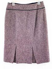 ADEC 2 by PHILIP ADEC Skirt Size 8 Medium Purple Black Tweed Wool Skirt