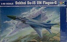 Trumpeter 1/48 Sukhoi SU-15 UM Flagon-G Soviet Combat Trainer New 2812