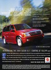 2004 Suzuki XL-7 - Seats - Classic Vintage Advertisement Ad D95