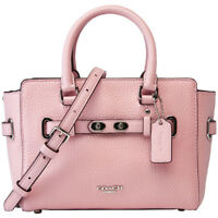NWT COACH F37635 MINI BLAKE CARRY ALL IN BUBBLE LEATHER CROSSBODY SOFT PINK $375