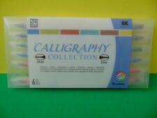 New ListingKuretake Zig Calligraphy Collection 2 & 5 mm Made in Japan 6 Pens New in case