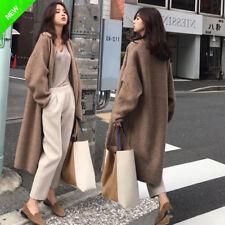 2018 Herbst Damen Strickjacke Mantel cashmere Knielange Outwear Trenchcoat Jacke