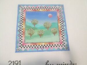 SPRING-MINDY-HANDPAINTED NEEDLEPOINT CANVAS