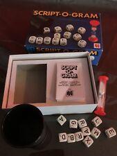 Script O Gram Letter Dice Game 1979 Jumbo Games Vintage 100% Complete