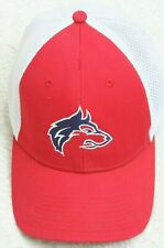 New Era Wolfpak Red White Baseball Hat Mans Fitted Mens Small Medium PolyCotton