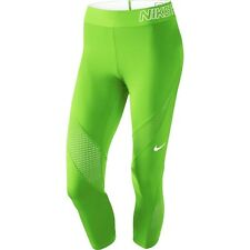 NIKE PRO Hypercool Dri-Fit Capri Training Tights Bright Green Size S New