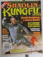 Shaolin Kung Fu Tai Chi Magazine May/June 2014 Martial Arts