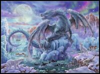 Mystical Dragons - DIY Chart Counted Cross Stitch Patterns Needlework DMC Color