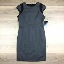 Zara Basic Grey Shift Cap Sleeve Women's Dress Workwear Office Size XL (FF15)