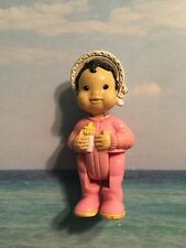 FISHER PRICE LOVING FAMILY REPLACEMENT VHTF ASIAN BABY GIRL W BONNET FIGURE