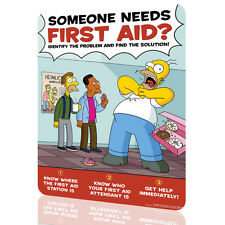 """Metal Tin Sign The Simpsons """"First Aid"""" Security Collection 9 Decor Wall Art"""