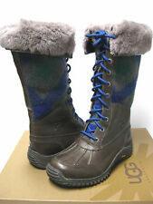 UGG ADIRONDACK WOMEN WINTER TALL BOOTS CHARCOAL US 7 /UK 5.5 /EU 38 /JP 2