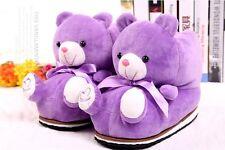 Cute Women Winter Slippers Indoor Cartoon Teddy Bear Shoes Cotton Home Soft Warm