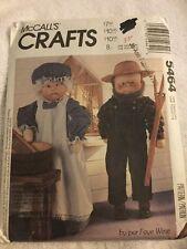 McCalls Crafts Grandpa Grandma Dolls Clothes Sewing Pattern Uncut 5464 Faye Wine