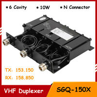 SGC-150X 10W VHF Portable 6 Cavity Duplexer for Radio Repeater with N Connector