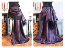 Purple Bustle Skirt Victorian Steampunk Gothic Burlesque Tribal Train 12 14 16