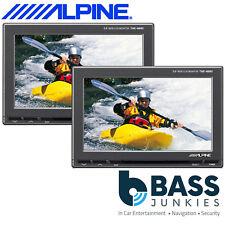 "Alpine TME-M680 Pair 5.8"" Widesceen Car Monitor Dash Or Rear Headrest AV Screens"