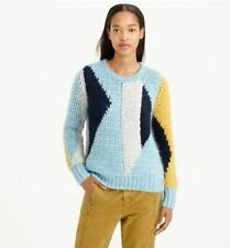 NWT J Crew COLLECTION ABSTRACT MOHAIR Chunky Knit Reversible SWEATER XXS