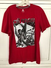 Adidas All Rose T Shirt L large Heat Bulls Climalite